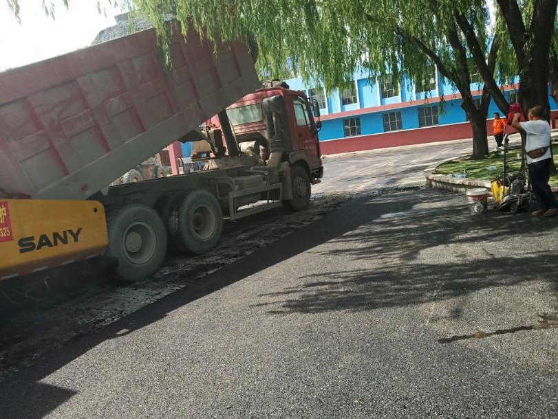 北京雅士科莱恩沥青铺装现场