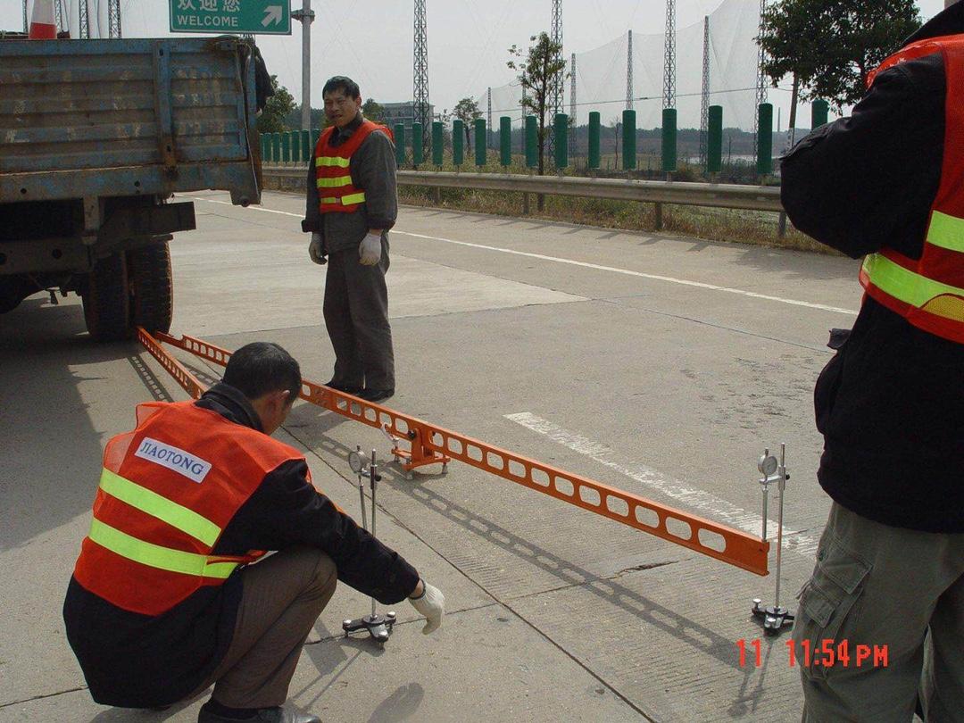 路面弯沉仪测量