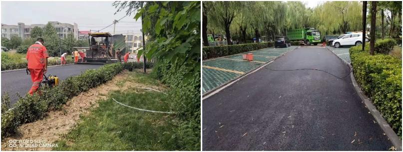 人工铺筑沥青路面